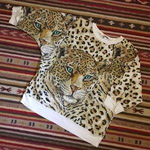 vintage sparkly leopard sweatshirt
